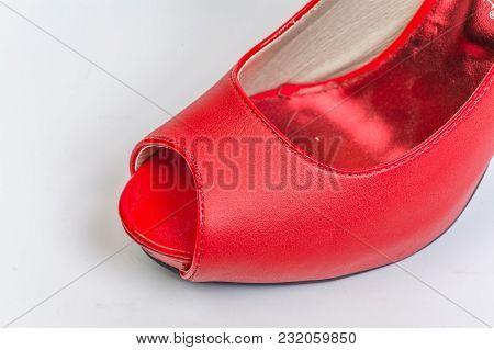 Tip Of A Red Peeptoe High Heel