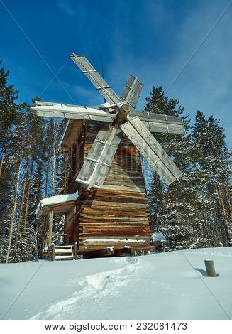 Russian Traditional Wooden Mill