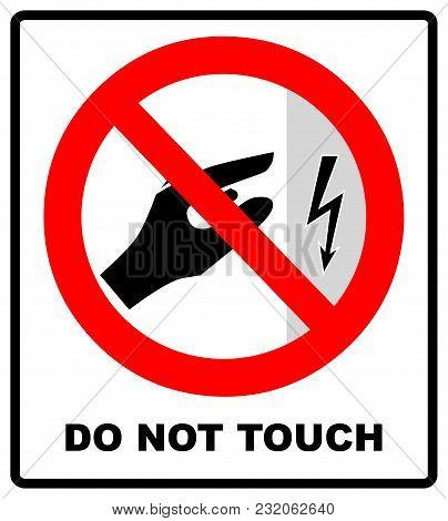 High Voltage Inside Do Not Open, High Voltage Within Keep Out, Do Not Touch. Do Not Touch. Vector Il