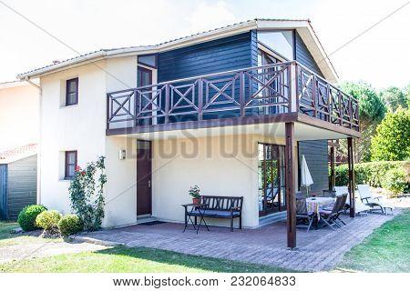 Terrace Exterior Of A Beautiful Modern House