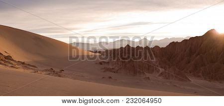 Salt Formations And Sand Dunes At Valle De La Muerte (spanish For Death Valley) Also Know As Cordill