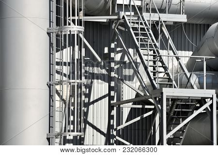 Metal Constructions Of A Modern Industrial Power Plant