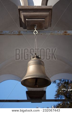 Little Chapel Church Brass Bell  Hanging Outside