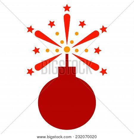 Fireworks Detonator Vector Pictogram. Illustration Style Is A Flat Iconic Symbol.
