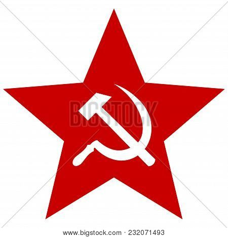 Communism Star Vector Icon. Illustration Style Is A Flat Iconic Symbol.