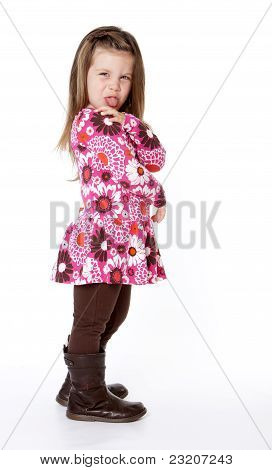Young Girl Sticking Tongue Out