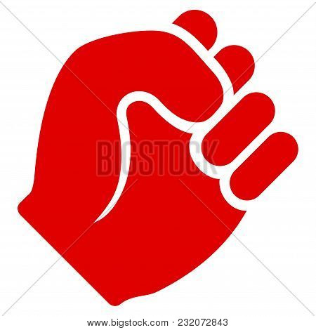 Fist Vector Pictogram. Illustration Style Is A Flat Iconic Symbol.