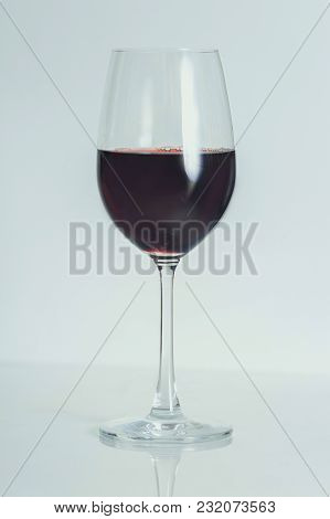 Alcohol Drinks (red Wine, Whisky, Grapefruit Cocktail) On Light Background