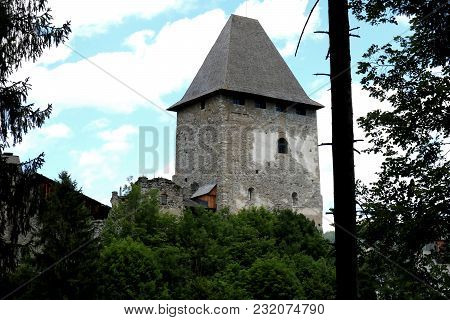 Castle Of Petersberg In Friesach, Carinthia, Old Tower, Donjon