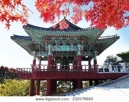 Bell Pavilion Near The Entrance To Seokguram Grotto In Gyeongju, South Korea. The Grotto, Together W
