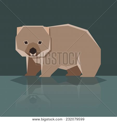 Vector Iimage Of The Flat Design Wombat