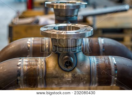 High Pressure Pipes Welded To Fittings Cooling Down