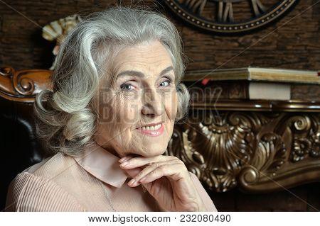 Portrait Of Senior Woman  Posing At Home