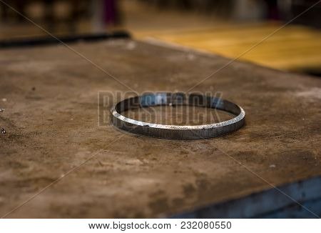 Steel Ring For Welding On A Plane Surface