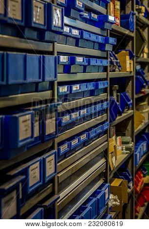 The Storage Department Keeping Order For The Spare Parts