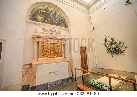 Fatima, Portugal - August 15, 2017: Grave Of Francisco One Of The Shepherds Who Saw The Apparitions