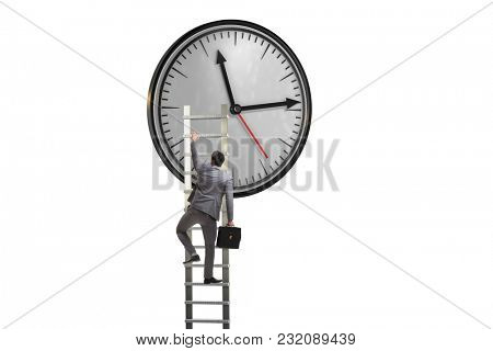 Businessman in time management concept