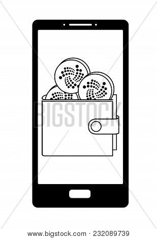 Iota Wallet On The  Phone Screen, Crypto Currensy In The Wallet On A Screen Phone , Iota Coins In Th