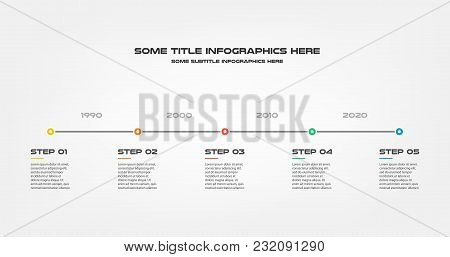 Snake Timeline Steps Infographics - Can Illustrate A Strategy, Workflow Or Team Work, Vector Flat Co