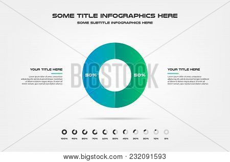 3d Sphere, Percentage Infographics. Element Of Chart, Graph, Diagram With 2 Options - Parts, Process