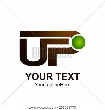 Initial Letter Up Logo Template Colored Brown Green Design For Business And Company Identity