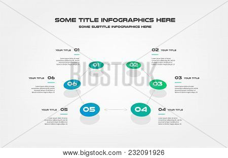 Chart Of Percentage Infographics. Element Of Graph, Diagram With 6 Options - Parts, Processes, Timel