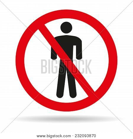 No Man Sign On White Background. Vector Illustration
