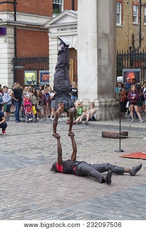 London, United Kingdom - June 22, 2017: Covent Garden Market, Popular Shopping And Tourist Site, A S