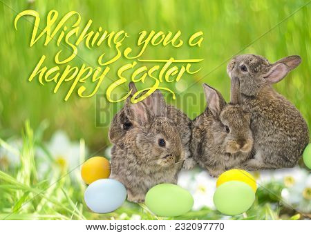 Happy Easter card with