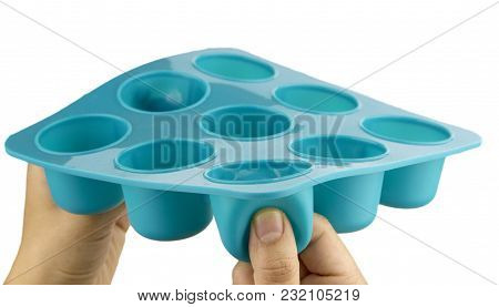 Flexible And Easy To Release Plastic Ice Cube Tray For Fridge. This Silicone Ice Tray Is Perfect For