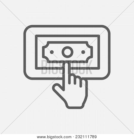 Ppc Icon Line Symbol. Isolated  Illustration Of  Icon Sign Concept For Your Web Site Mobile App Logo