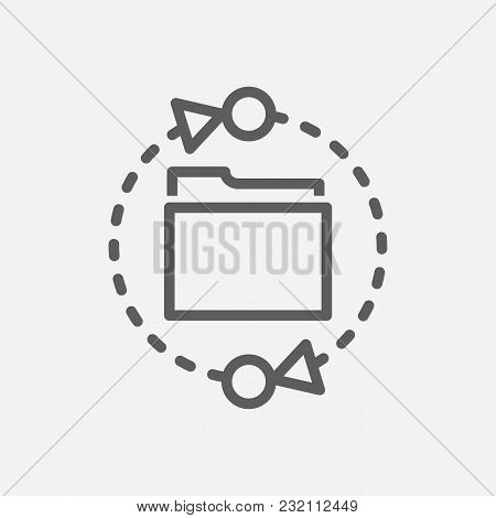 Data Transfer Icon Line Symbol. Isolated Vector Illustration Of Connection Sign Concept For Your Web