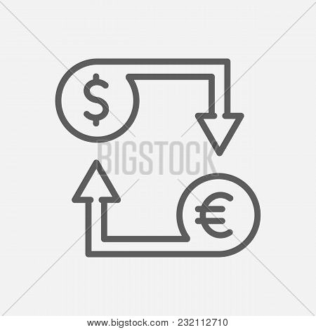 Currency Exchange Icon Line Symbol. Isolated Vector Illustration Of Money Exchange Sign Concept For