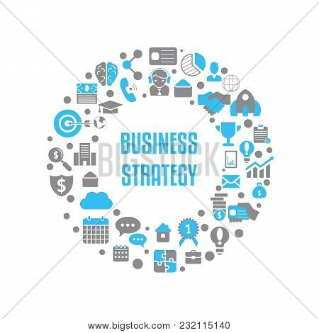 Business Design Concept. Background With Business And Finance Icons.