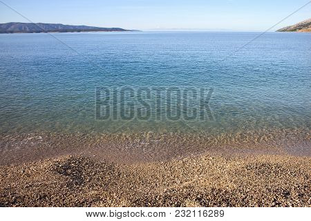 Beach Golden Cape In Bol On Brac Island In Croatia