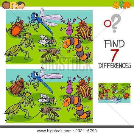 Find Differences With Insects Animal Characters Group