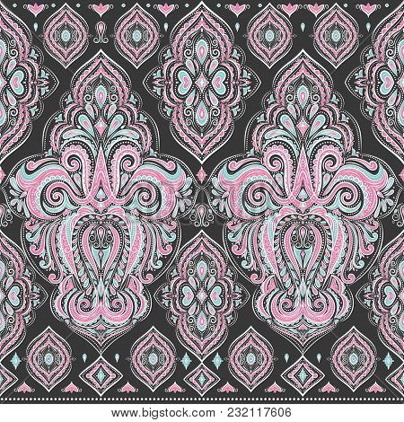 Beautiful Floral Seamless Pattern. Vintage. Traditional, Ethnic, Turkish, Indian Motifs. Great For F