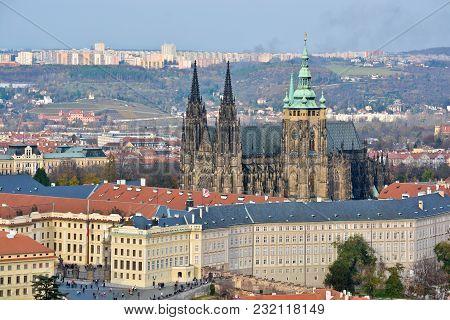The Czech Castle Is A Unesco World Heritage Site. National Shrine Of The Czech Republic.
