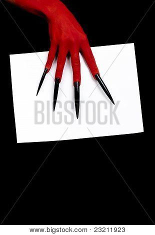 The devil's hand.