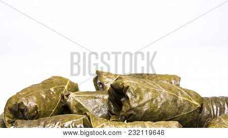 Grape Leaves Rolls. Sarmale, Dolma, Sarma, Dolmades, Golubtsy Or Golabki. East European And Asian Tr