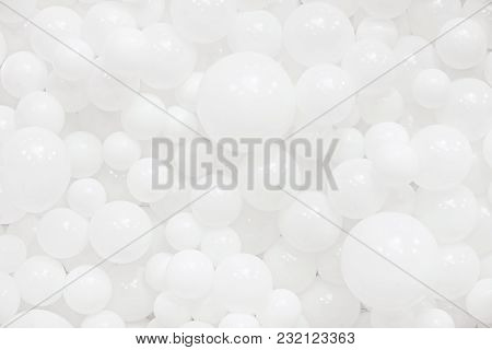 A Lot Of White Balloons For Background Use. Balloons Texture