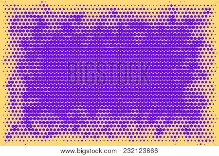 Multicolored Abstract Futuristic Halftone Pattern. Comic Background. Dotted Backdrop With Circles, D