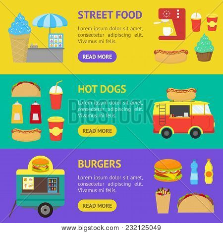 Cartoon Street Food Vector & Photo (Free Trial) | Bigstock