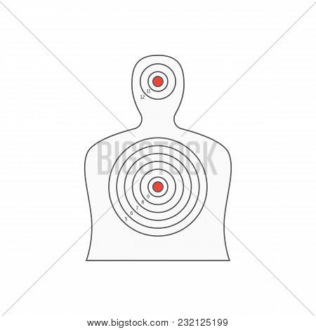 Board Target For Military Or Hunter Competition, Game, Hobby And Sniper Or Military Training. Vector