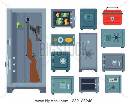 Money Safe Steel Vault Door Finance Business Concept Safety Business Box Cash Secure Protection Depo