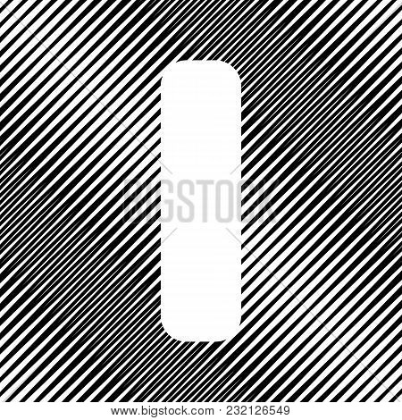 Letter I Sign Design Template Element. Vector. Icon. Hole In Moire Background.