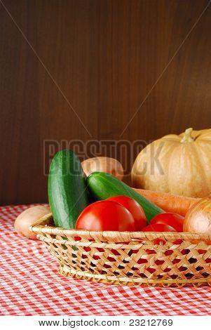 Harvested Vegetables On Farmer Market