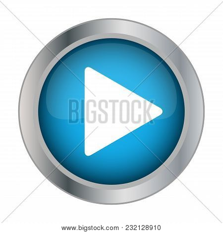 Play Button On White Background Vector Illustration