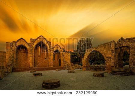 The Church of Panagia (Virgin Mary) of the Burgh in the old town of Rhodes Greece