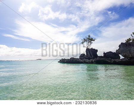 Willy's Rock On The Beach On Boracay Island,philippines
